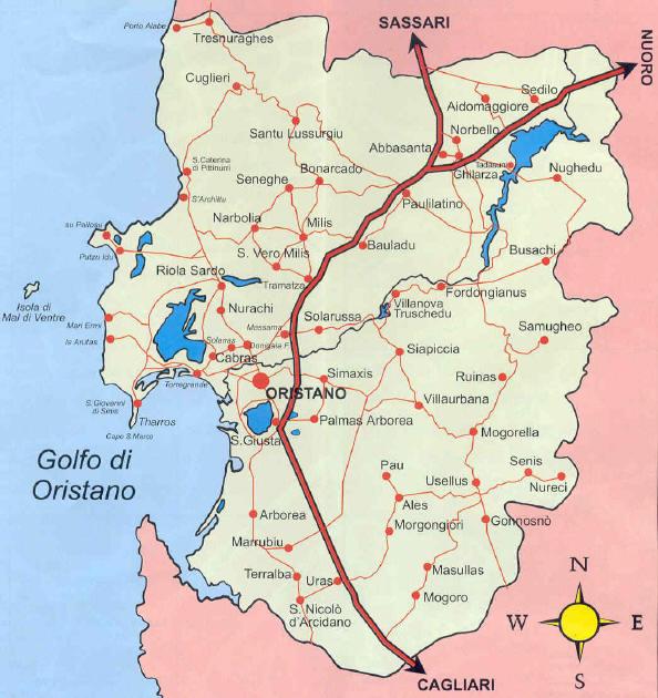 Cartina Sardegna Oristano.Oristano Viaggiemiraggi