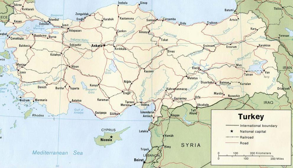 Cartina Mondo Turchia.Turchia Curiosita Viaggiemiraggi